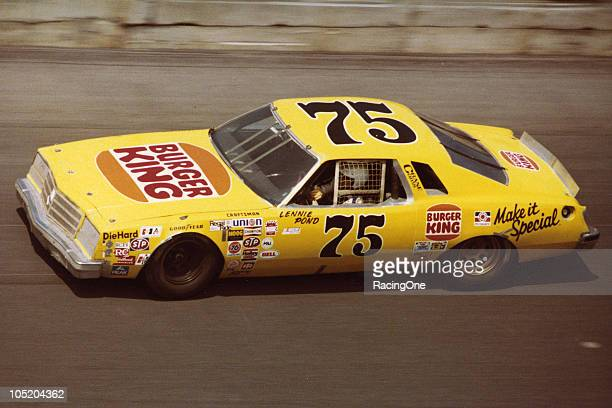 Lennie Pond at the wheel of the RahMoc Racing Burger King Buick during one of the NASCAR Cup Twin 125 qualifying races at Daytona International...