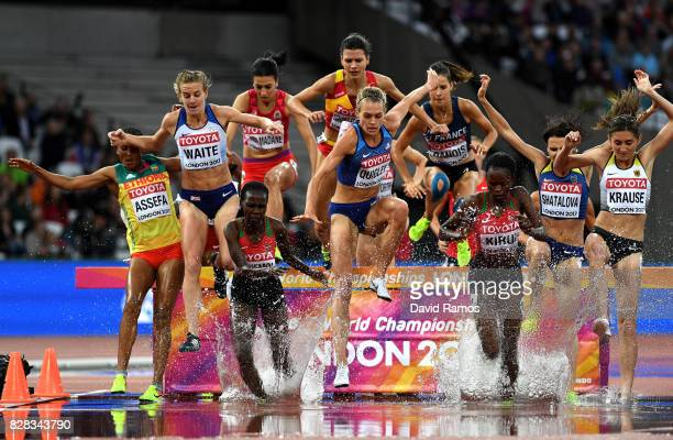 Lennie Waite of Great Britain Hyvin Kiyeng Jepkemoi of Kenya Colleen Quigley of the United States Gesa Felicitas Krause of Germany and Purity...