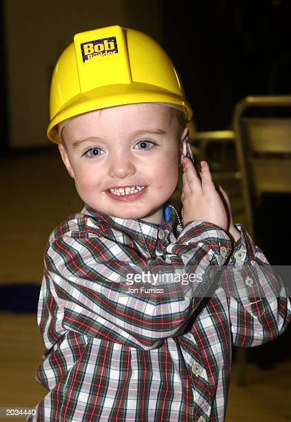 Lennon Francis Gallagher son of Oasis front man Liam Gallagher attends the Bob the Builder Gala evening on March 6 2002 at the London Arena London...