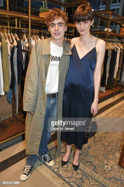 Lennon Gallagher and Lara Mullen attend the Rag Bone London flagship store opening on June 9 2017 in London England