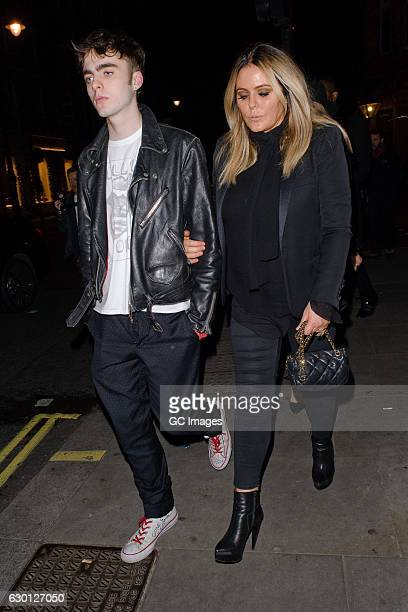 Lennon Gallagher and Patsy Kensit attend the LOVE Magazine Christmas party at George Club on December 16 2016 in London England