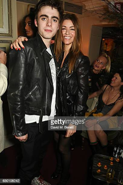 Lennon Gallagher and Sara Macdonald attend the LOVE Christmas Party hosted by Katie Grand and Poppy Delevingne at George on December 16 2016 in...