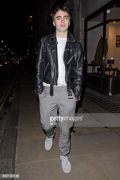 Lennon Gallagher at the opening of Wonderland PopUp store on January 19 2017 in London England