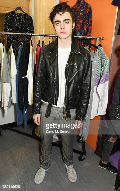 Lennon Gallagher attends the launch of Wonderland Magazine's popup shop at 192 Piccadilly on January 19 2017 in London England