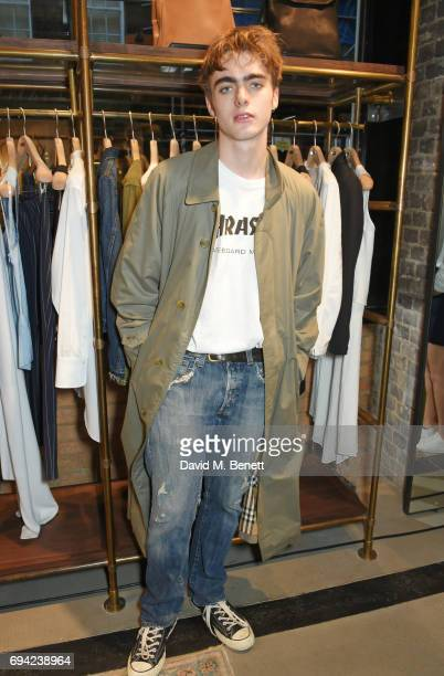 Lennon Gallagher attends the Rag Bone London flagship store opening on June 9 2017 in London England