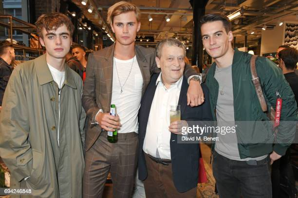 Lennon Gallagher Sam Harwood Sir Norman Rosenthal and Harry Rowley attend the Rag Bone London flagship store opening on June 9 2017 in London England