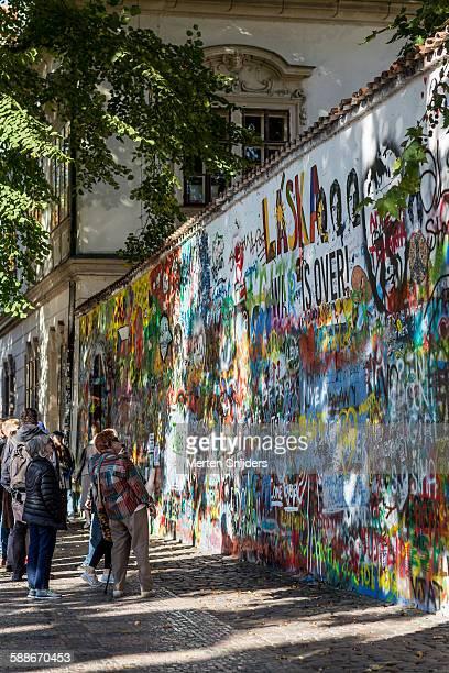 Lennon wall on Velkop?evorské nám?stí