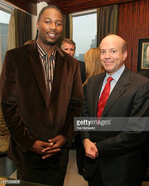 Lennox Lewis and Arthur Zeckendorf during Haute Living Powered by RollsRoyce Real Estate Round Table at Time Warner Mandarin Hotel in New York City...