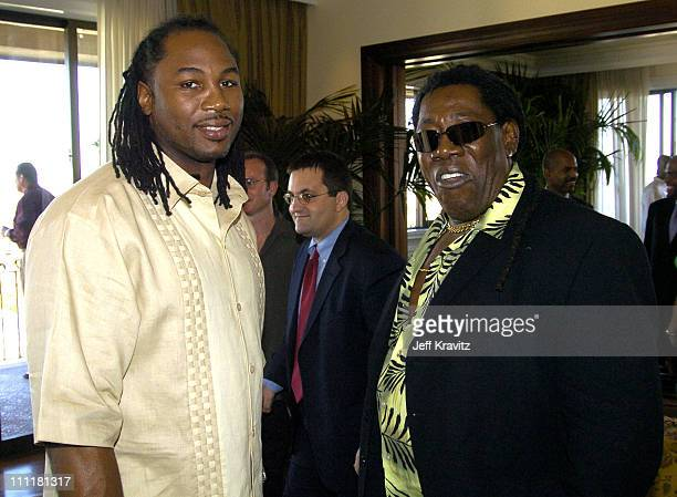 Lennox Lewis and Clarence Clemons during HBO Private Party for Lennox Lewis' Retirement at Regent Beverly Wilshire in Beverly Hills California United...