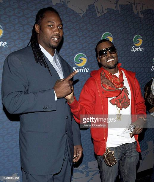 Lennox Lewis and Kanye West during Sprite Street Couture Showcase - Arrivals and Afterparty at Guastavino's in New York City, New York, United States.