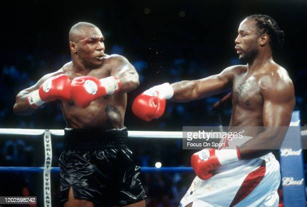 Lennox Lewis and Mike Tyson fight for the WBC, IBO, IBF, Ring and Lineal heavyweight titles on June 8, 2002 at The Pyramid in Memphis, Tennessee....