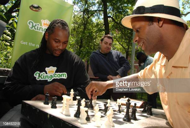 Lennox Lewis and Poe Washington Square Chess Master