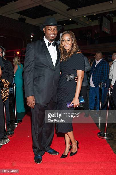 Lennox Lewis and wife Violet Chang at Masonic Temple on September 9 2016 in Toronto Canada