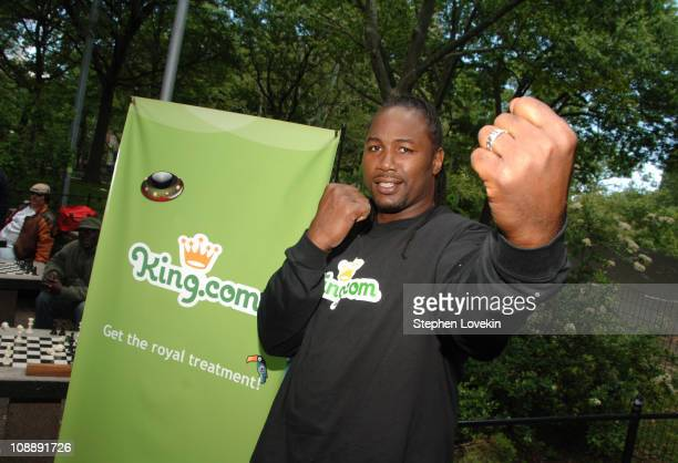 Lennox Lewis during Lennox Lewis at Kingcom Chesster Tournament at Washington Square Park in New York City New York United States
