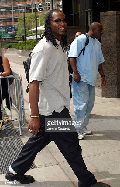 Lennox Lewis during Lennox Lewis Sighting in New York City at Midtown Manhattan in New York City New York United States