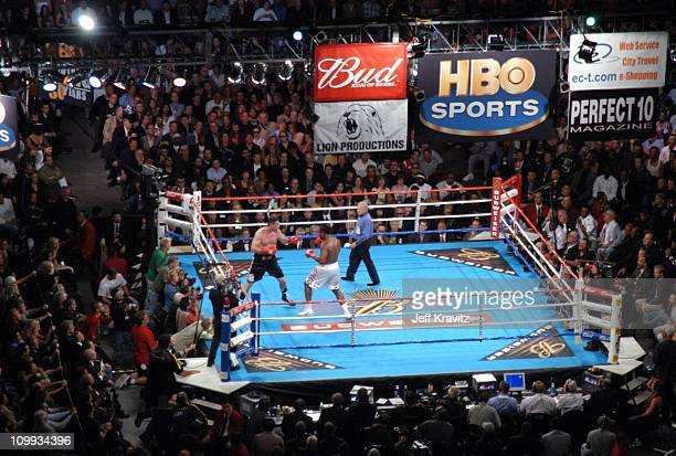 Lennox Lewis vs Vitali Klitschko during Lennox Lewis vs Vitali Klitschko HBO Post Fight Party at Staples Center in Los Angeles California United...