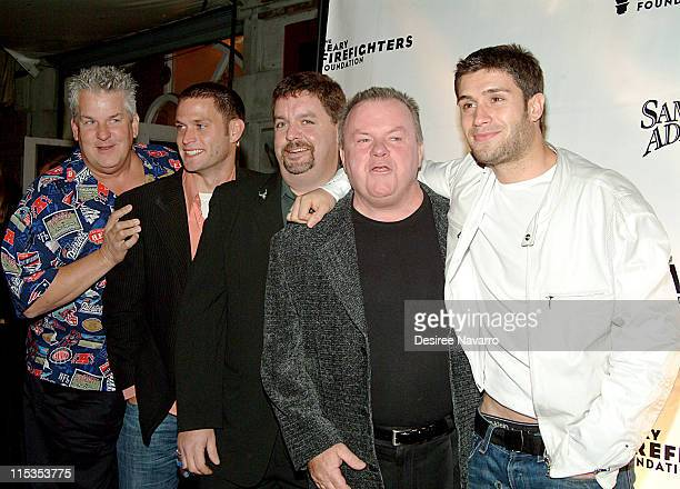 Lenny Clark and The cast of Rescue Me Steven Pasquale John Scurti Jack McGee and Michael Lombardi