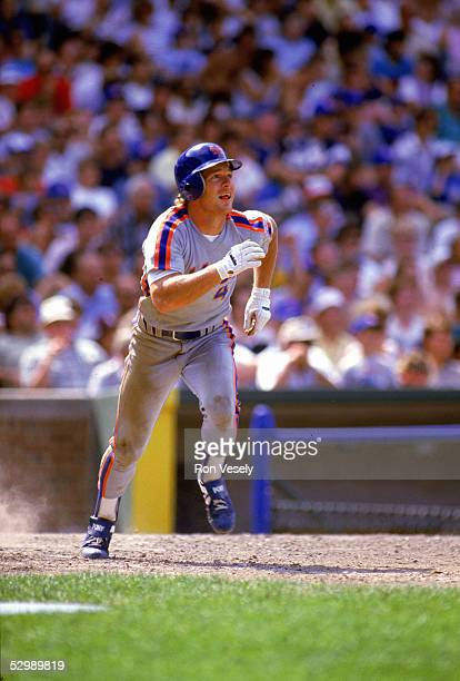 Lenny Dykstra of the New York Mets runs the bases during a game in the 1986 season