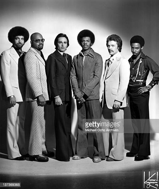 Lenny Fridie Jr Gerry Thomas Paul Forney Jimmy Castor Jeff Grimes ad Ellwood Henderson Jr of the funk group The Jimmy Castor Bunch pose for a...