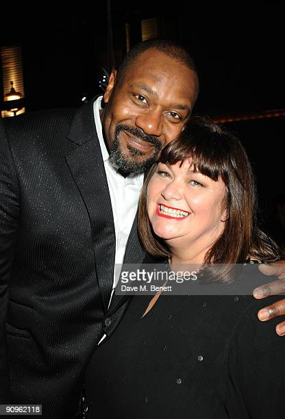 Lenny Henry and Dawn French attend the afterparty following the press night of Othello at Albernach on September 18 2009 in London England