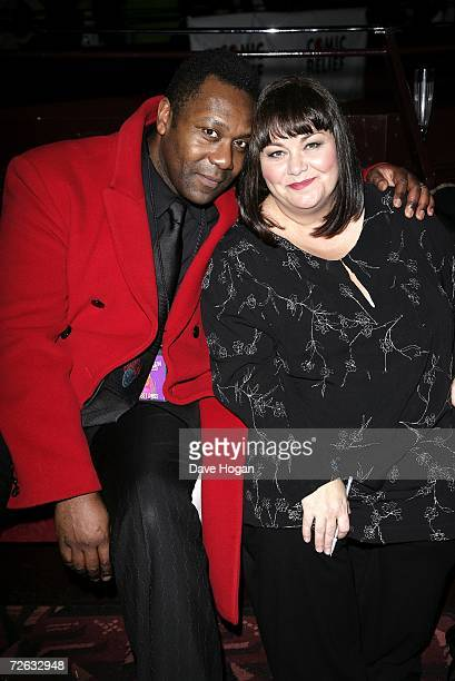 Lenny Henry and his wife Dawn French attend the afterparty following the Little Britain's Big Night charity gala performance in aid of Comic Relief...