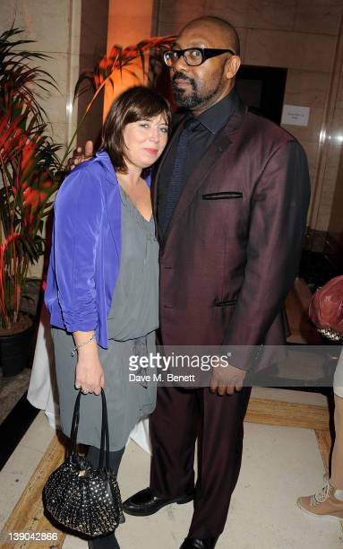 Lenny Henry and Lisa Makin attend an after party celebrating the press night performance of 'Singing In The Rain' at Freemasons Hall on February 15...