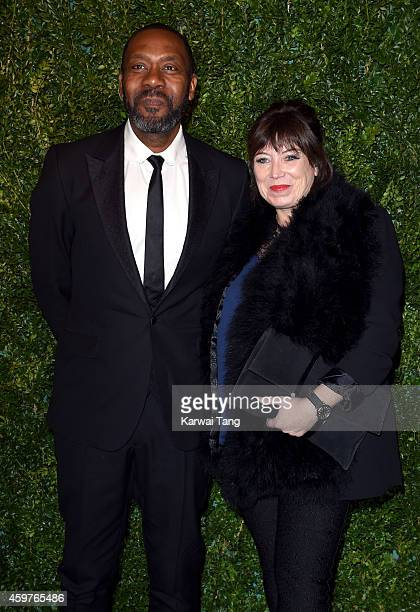 Lenny Henry and Lisa Makin attend the 60th London Evening Standard Theatre Awards at London Palladium on November 30 2014 in London England