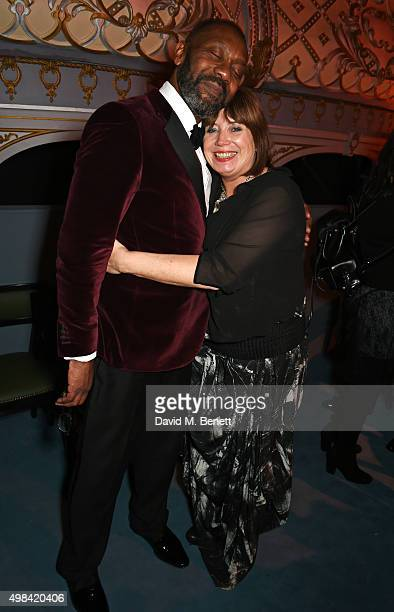 Lenny Henry and Lisa Makin attend The London Evening Standard Theatre Awards after party in partnership with The Ivy at The Old Vic Theatre on...