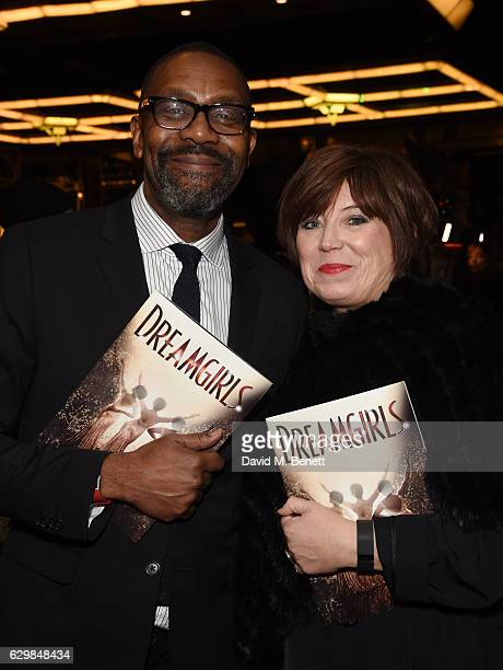 Lenny Henry and Lisa Makin attend the press night performance of Dreamgirls at The Savoy Theatre on December 14 2016 in London England