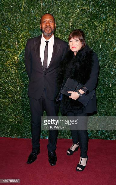 Lenny Henry and Lisa Makin attends the 60th London Evening Standard Theatre Awards at London Palladium on November 30 2014 in London England