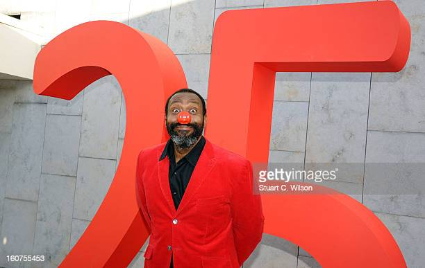 Lenny Henry attends a photocall to celebrate 25 years of Red Nose Day for Comic Relief at Southbank Centre on February 5 2013 in London England