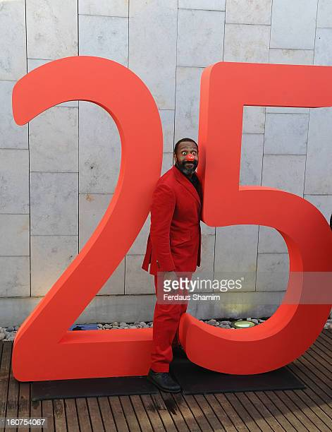 Lenny Henry attends a photocall to celebrate 25 yeas of Red Nose Day for Comic Relief at Southbank Centre on February 5 2013 in London England