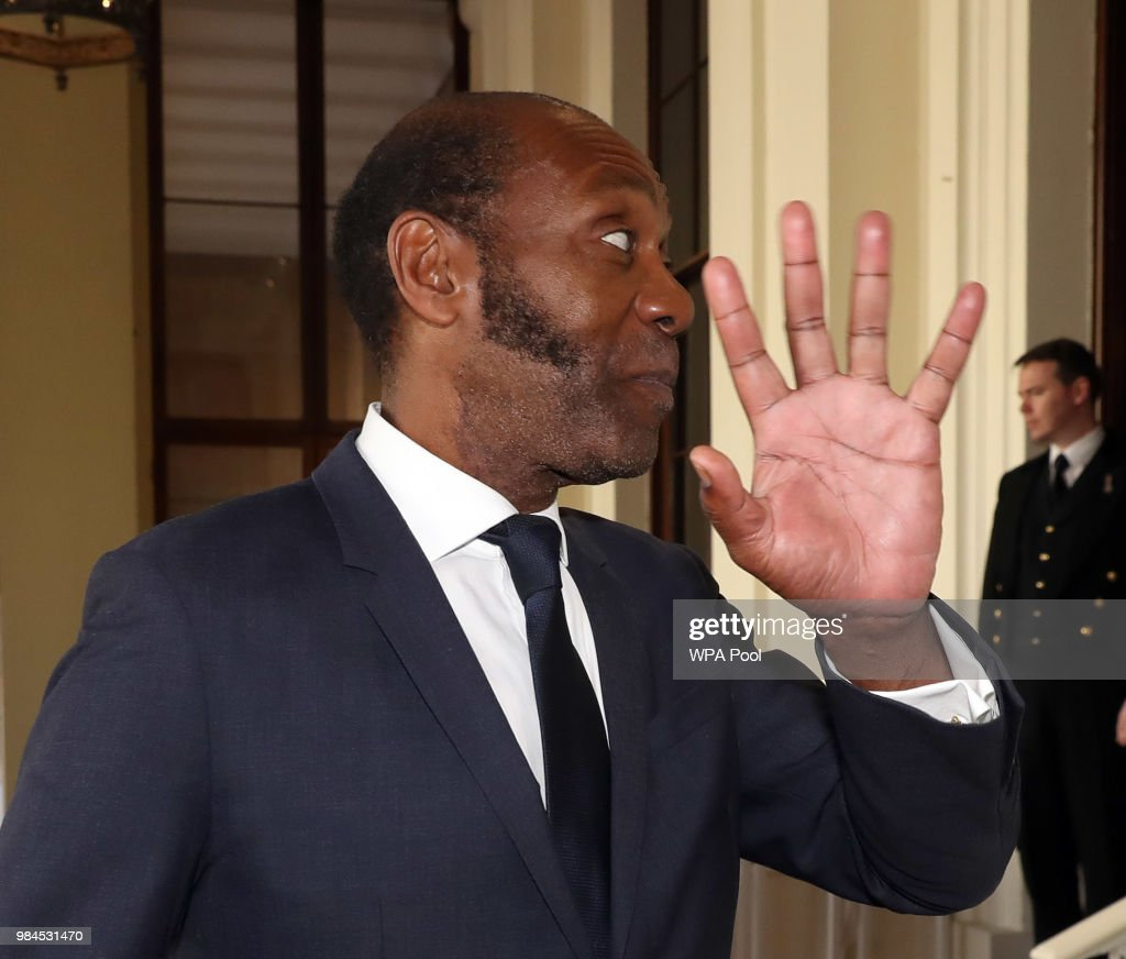 Lenny Henry attends the Queen's Young Leaders Award Ceremony as Queen Elizabeth II accompanied by Prince Harry, Duke of Sussex and Meghan, Duchess of Sussex host a reception at Buckingham Palace to present awards to the Queen's Young Leaders for 2018 at Buckingham Palace on June 26, 2018 in London, England. Among the guests at the reception are the Chairman of The Queen Elizabeth Diamond Jubilee Trust, Sir John Major, Sir Lenny Henry, David Beckham, Nicola Adams, Casper Lee, Neelam Gill, Ore Oduda and Tina Daheley.