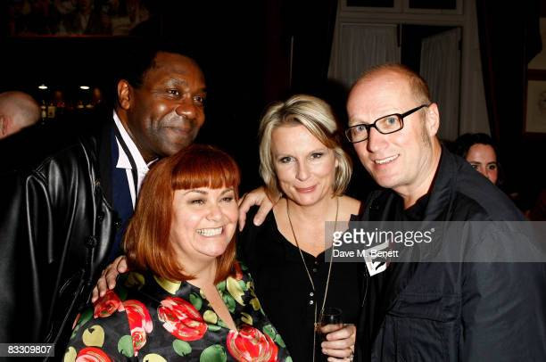 Lenny Henry Dawn French Jennifer Saunders and Adrian Edmondson attend the press night of 'French Saunders' at Theatre Royal Drury Lane on October 16...