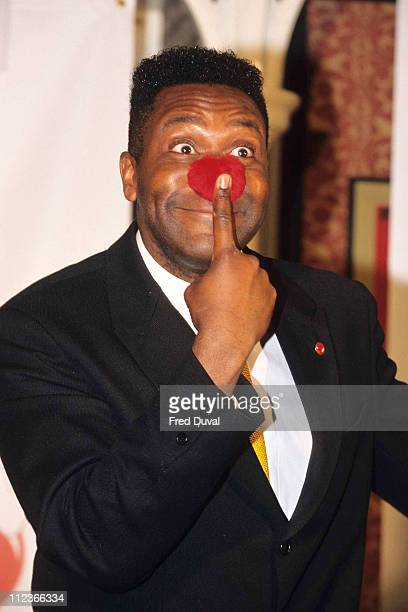 Lenny Henry during Lenny Henry launching Comic Relief Red Nose Day at London in London United Kingdom