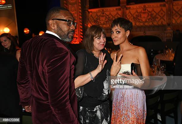 Lenny Henry Lisa Makin and Cush Jumbo attend The London Evening Standard Theatre Awards after party in partnership with The Ivy at The Old Vic...