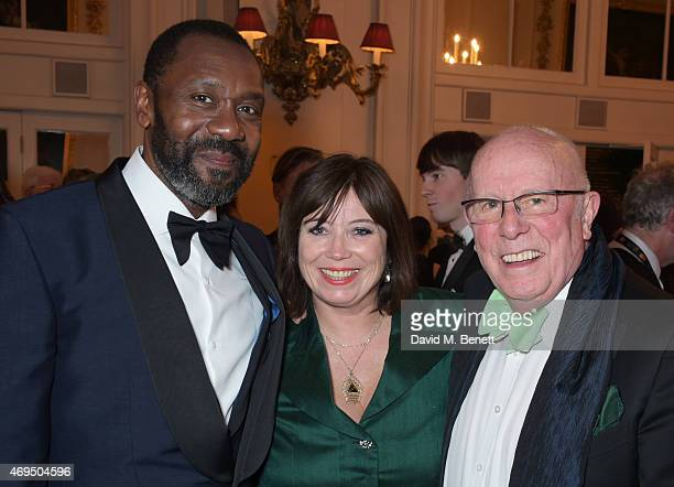 Lenny Henry Lisa Makin and Richard Wilson attend The Olivier Awards after party at The Royal Opera House on April 12 2015 in London England