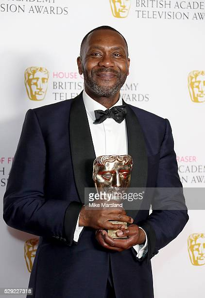 Lenny Henry poses with the Special Award in the winners room at the House Of Fraser British Academy Television Awards 2016 at the Royal Festival Hall...