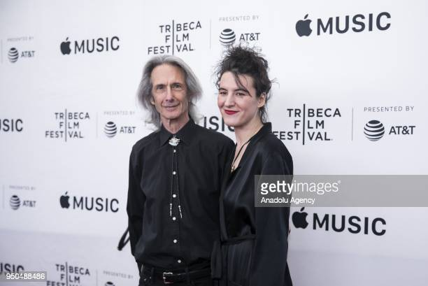 Lenny Kaye and Jesse Smith attend a screening of 'Horses' during the Tribeca Film Festival at Beacon Theatre in New York United States on April 23...