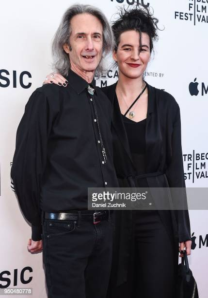 Lenny Kaye and Jesse Smith attend the screening of 'Horses Patti Smith and Her Band' during the 2018 Tribeca Film Festival at Beacon Theatre on April...