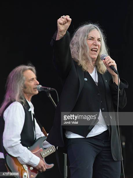 Lenny Kaye and Patti Smith perform a special concert to celebrate the fortieth aniversary of the record Horses during the third day of Primavera...