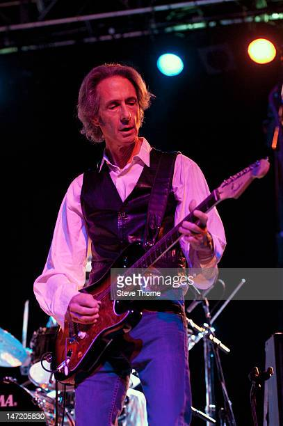 Lenny Kaye performs on stage with Patti Smith at Wulfrun Hall on June 25 2012 in Wolverhampton United Kingdom