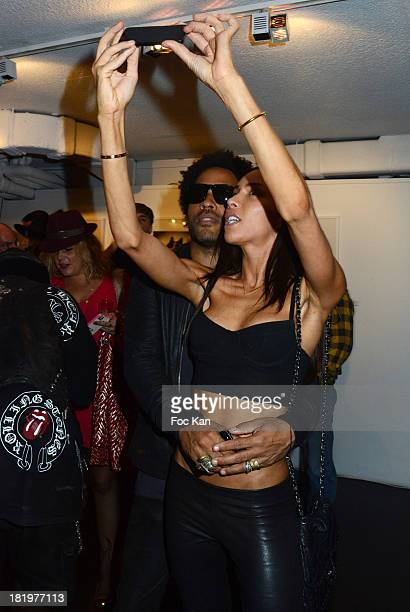 Lenny Kravitz and Ines Rau attend the 'Little Beast' Ellen Von Unwerth Exhibition Preview and Photo Magazine Special Issue Launch Party at Galerie 2...