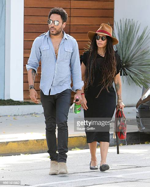Lenny Kravitz and Lisa Bonet are seen in Los Angeles on March 13 2015 in Los Angeles California