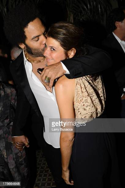 Lenny Kravitz and Marisa Tomei attend Lee Daniels' The Butler New York Premiere hosted by TWC Samsung Galaxy and DeLeon Tequila on August 5 2013 in...