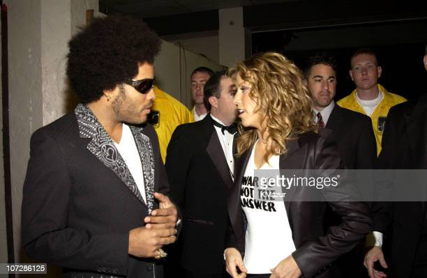 Lenny Kravitz and Sheryl Crow during The 30th Annual American Music Awards Audience and Backstage at Shrine Auditorium in Los Angeles California...