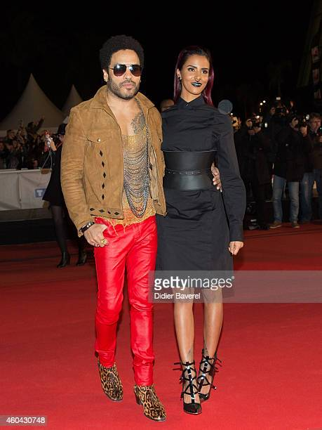Lenny Kravitz and Shy'm attend the 16th NRJ Music Awards at Palais des Festivals on December 13 2014 in Cannes France