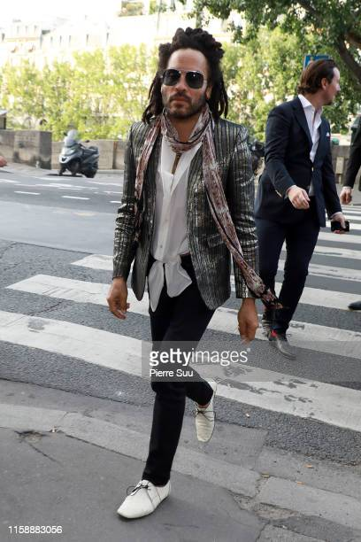 Lenny Kravitz arrives at a dinner at 'La Perouse' restaurant where a dinner is given to celebrate Zoe Kravitz and Karl Glusman's wedding on June 28,...