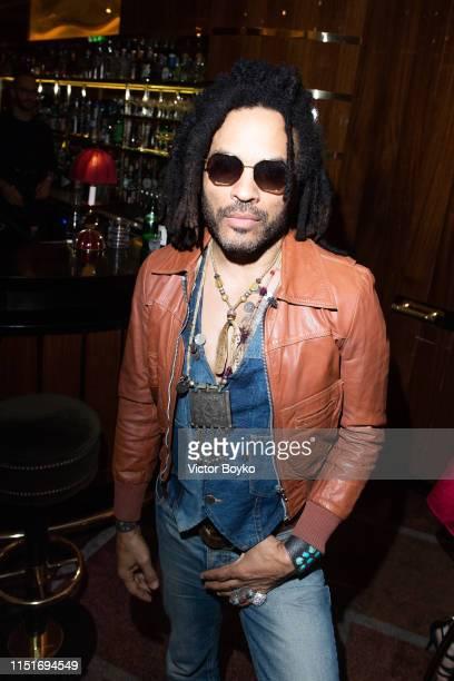 Lenny Kravitz attends the cocktail party hosted by Chrome Hearts X Jordan Barrett at La Maison Du Caviar on June 22 2019 in Paris France