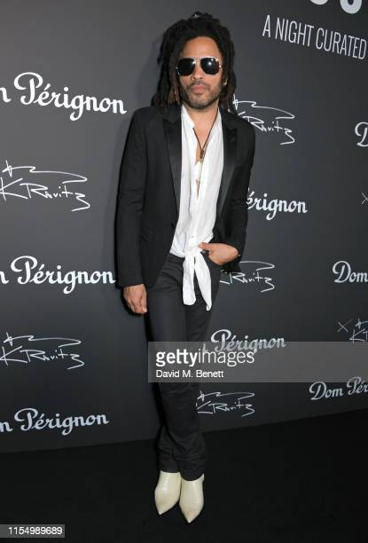 Lenny Kravitz attends the Lenny Kravitz Dom Perignon 'Assemblage' exhibition the launch Of Lenny Kravitz' UK Photography Exhibition on July 10 2019...